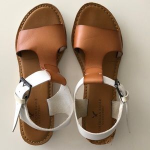 American Eagle Leather Like Sandals